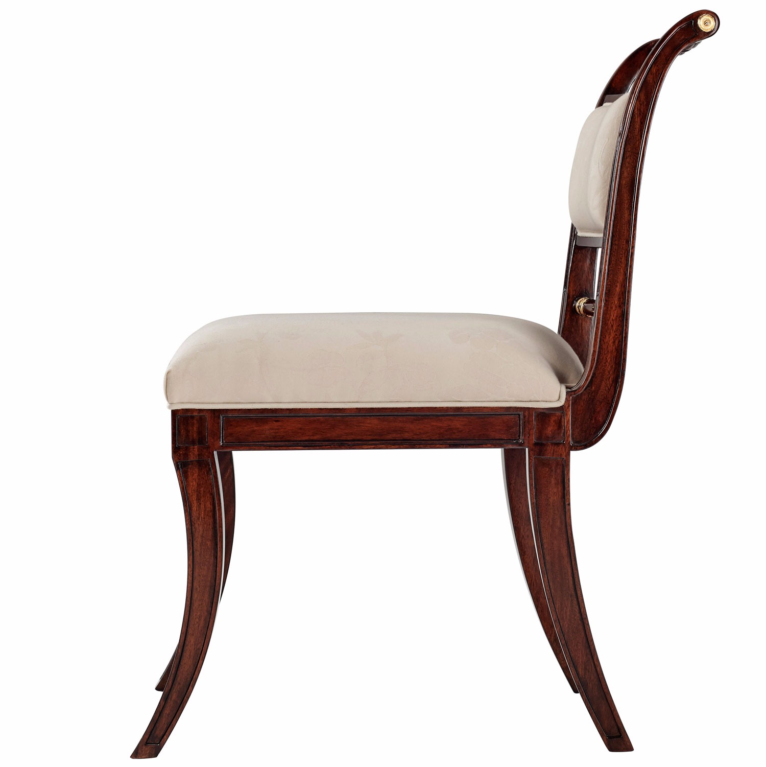 Hand Carved Mahogany Dining Chair