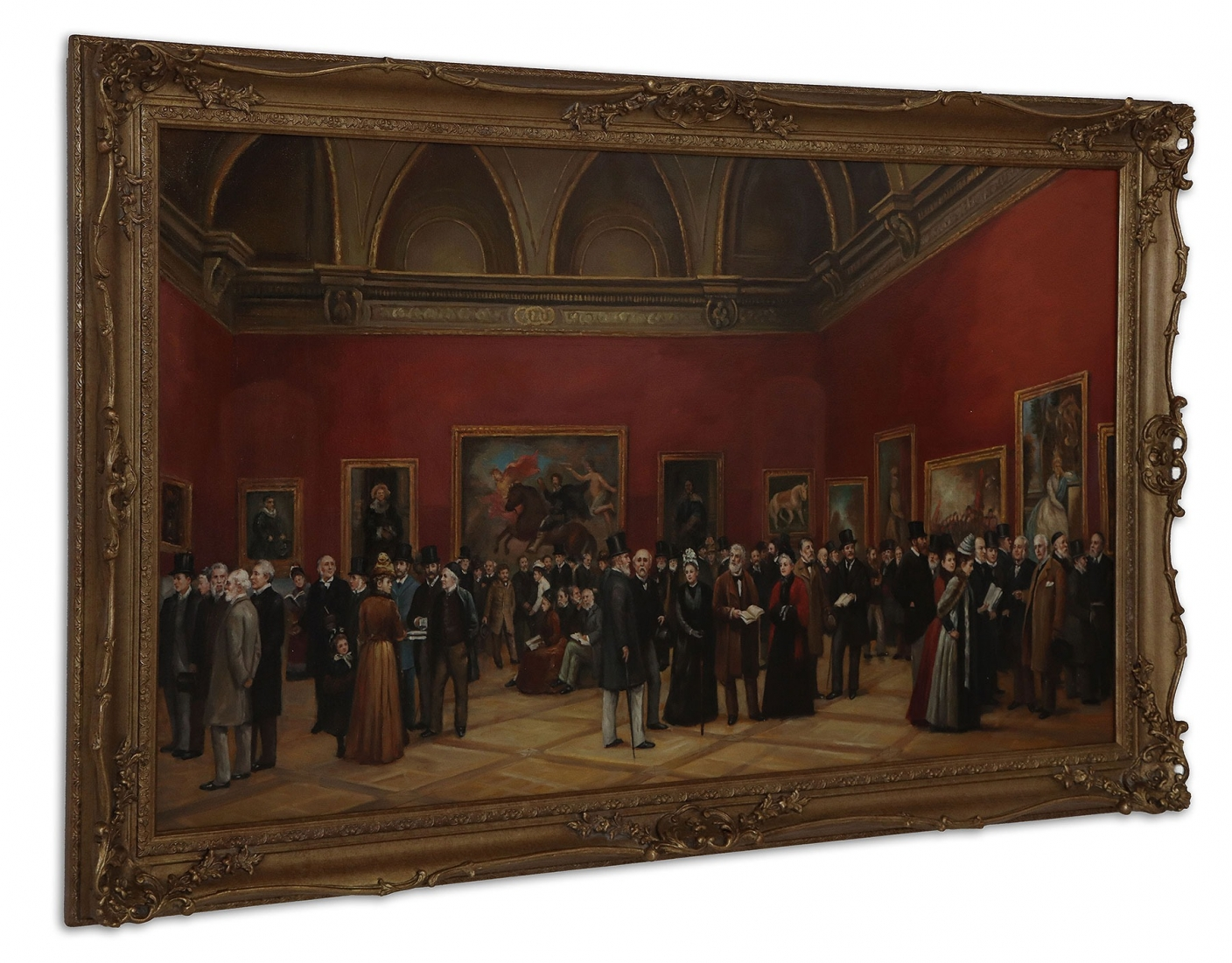 Oil Painting after 'Private View of The Old Masters Exhibition' of Henry Jamyn Brooks