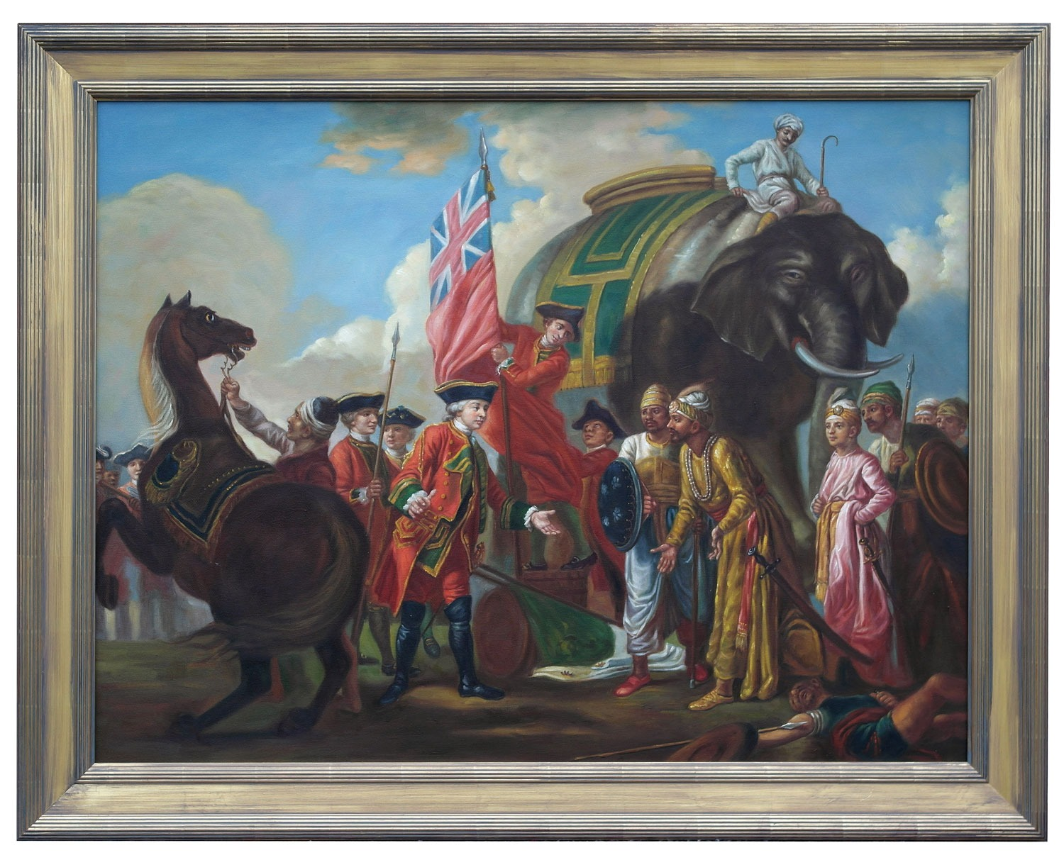 Robert Clive And Mir Jafar After The Battle Of Plassey 1757