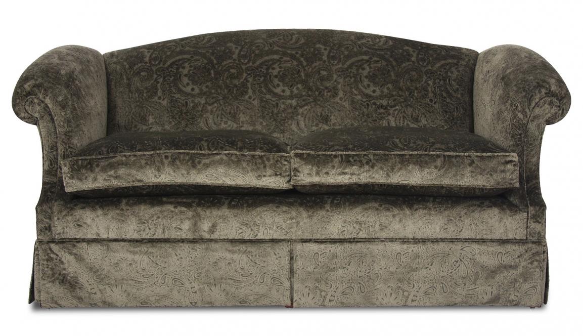 Coleridge high arm sofa in Skirmish dark olive