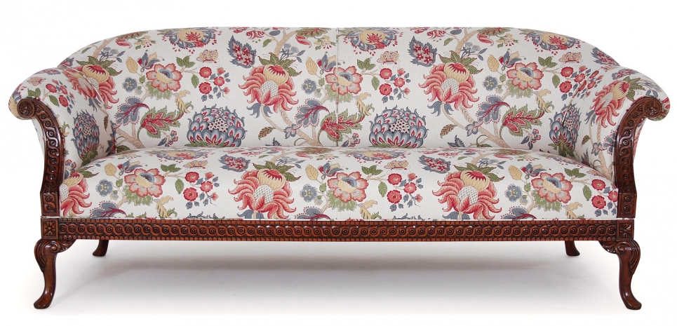 Pride Regency style sofa in archive printed linen