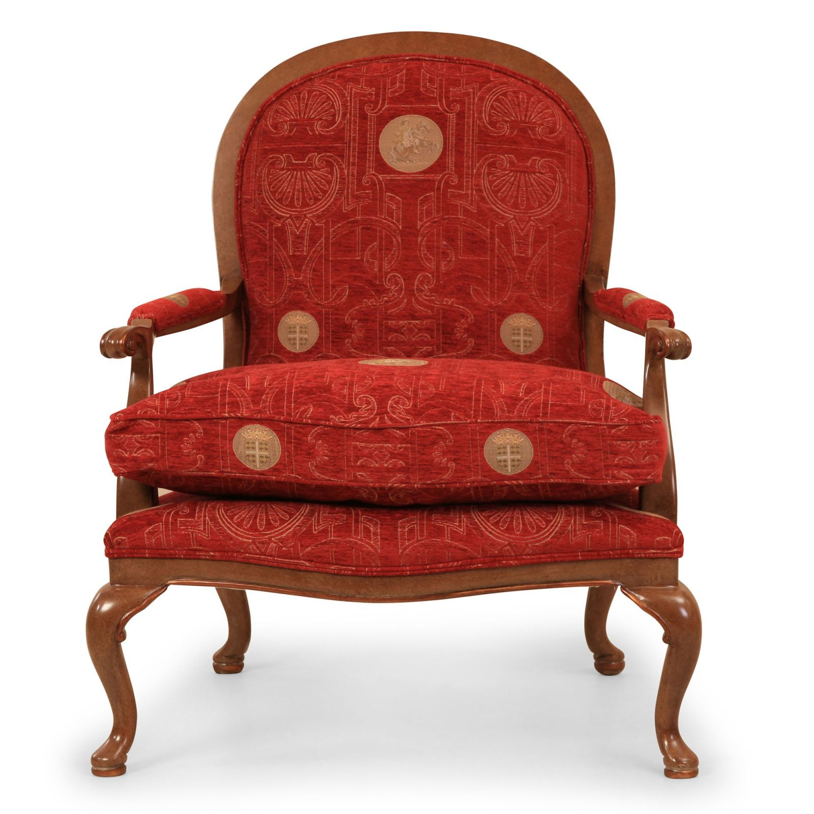 Sicily chair in red medallion chenille