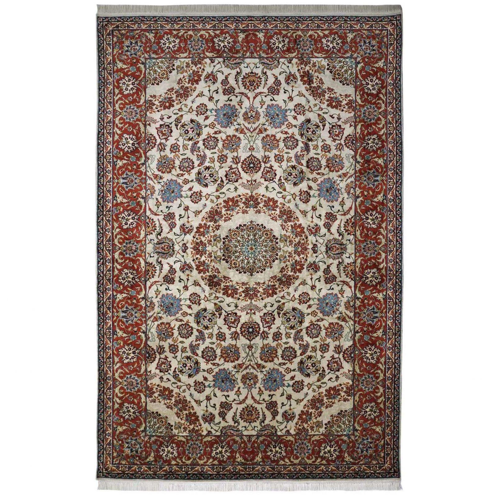 Isfahan design silk pile carpet