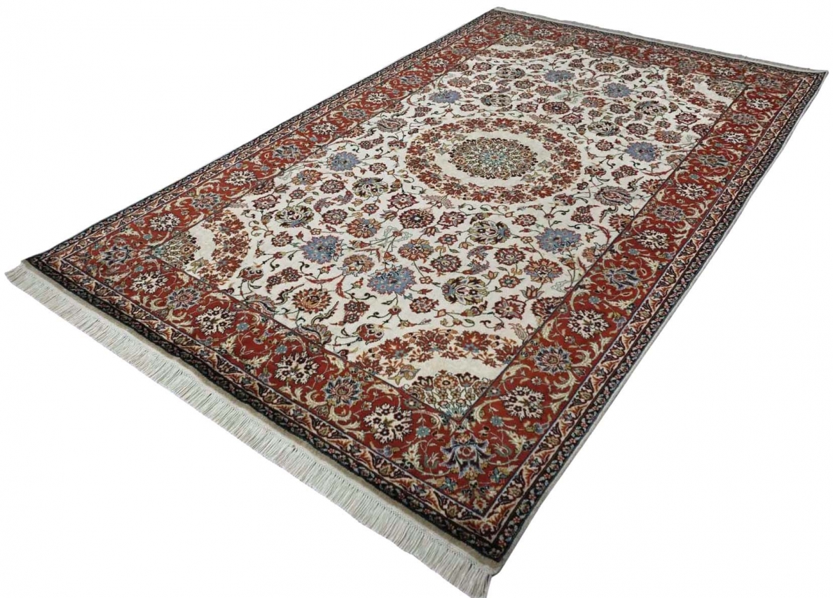 Isfahan Design Silk Pile Carpet Silk Rugs From Brights Of