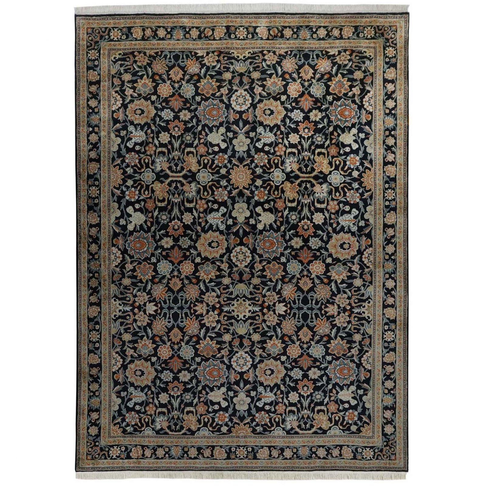Kerman Persian design 100% silk carpet