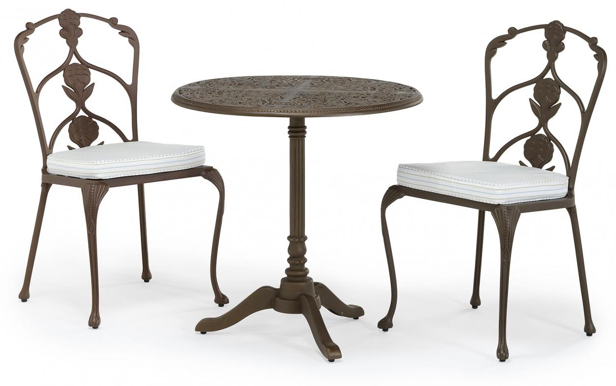 Barrington metal outdoor pedestal table