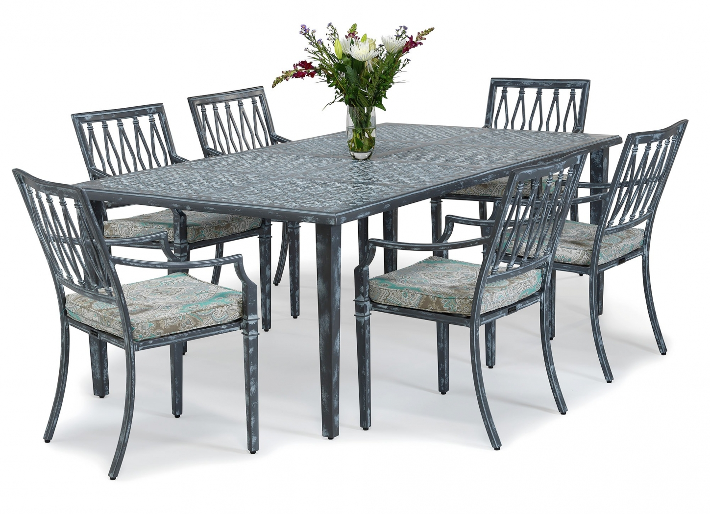 Sienna metal outdoor dining table