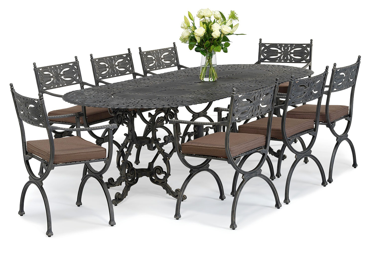 Brownian metal outdoor dining table