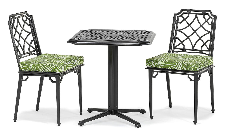Rissington metal outdoor pedestal table