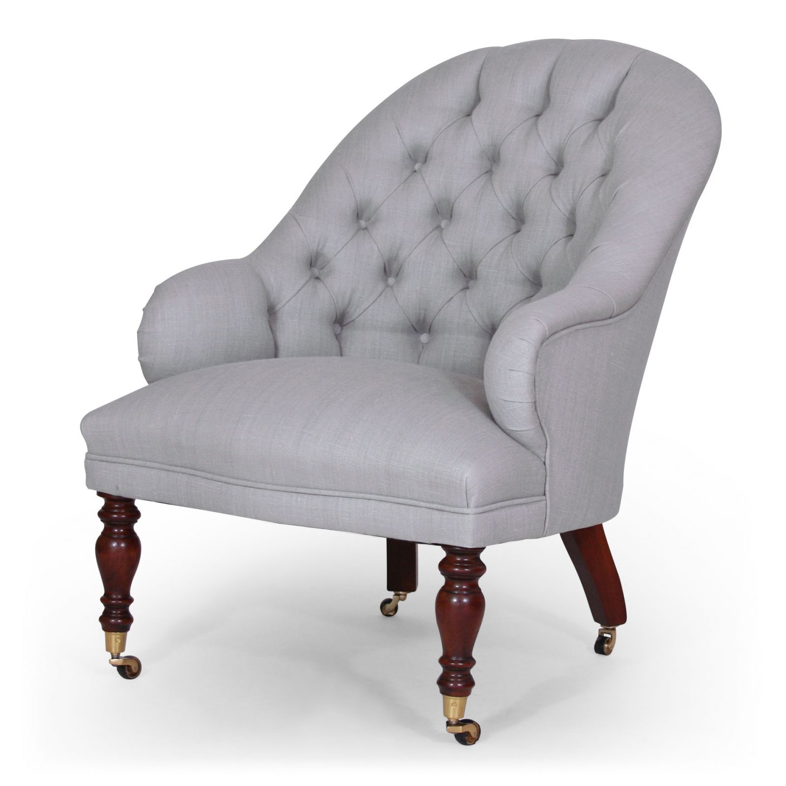Masefield bedroom chair in Ian Sanderson Kelby Linen