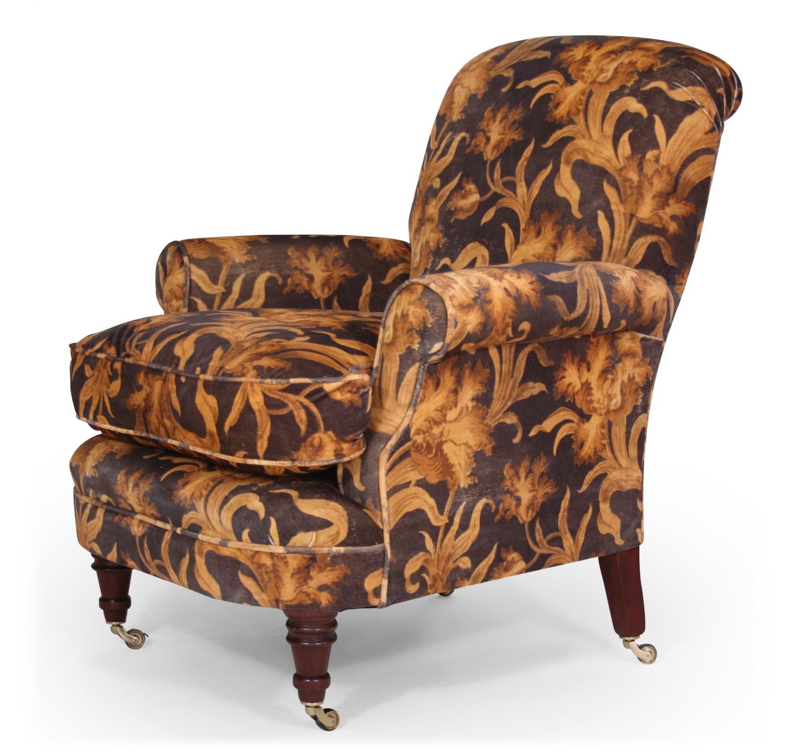 Shelley bedroom chair in Linwood Larnaca velvet