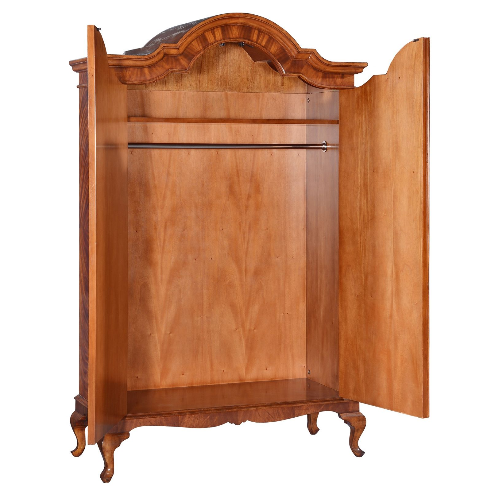 Flame mahogany wardrobe - bespoke sizes available