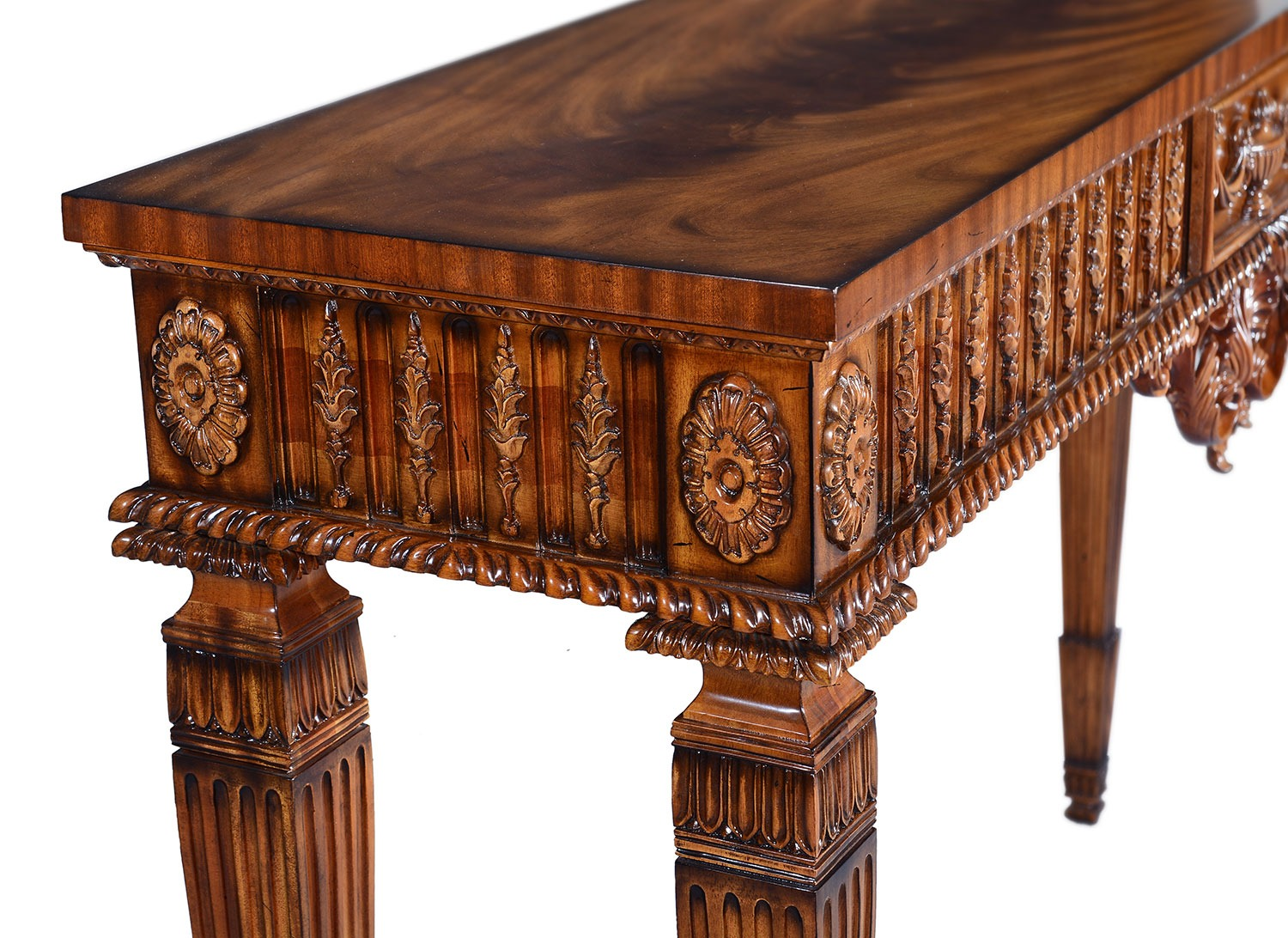 Hand carved Mahogany console table