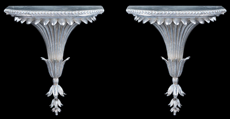 Adam style wall bracket in silver