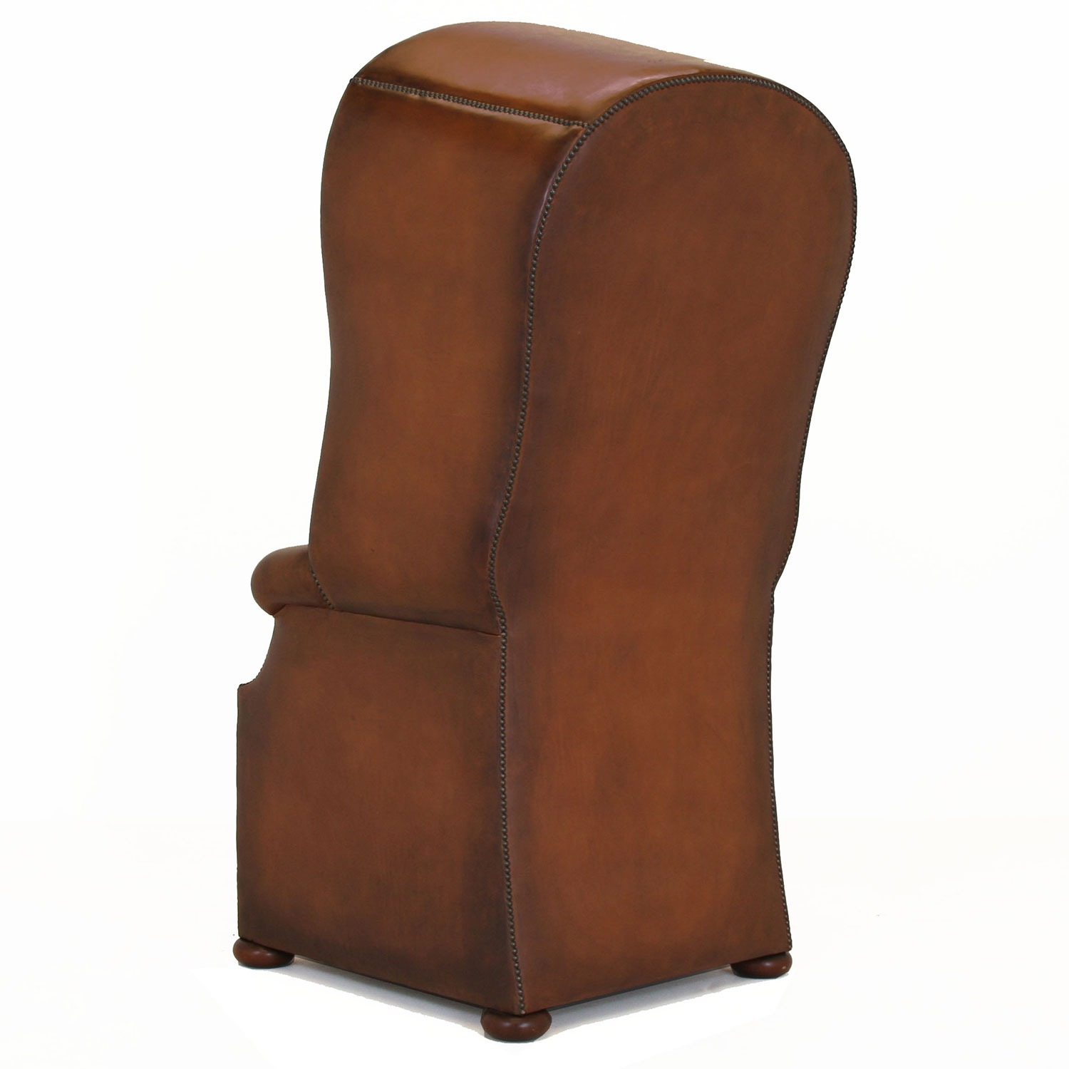 Porters chair in hand dyed hide