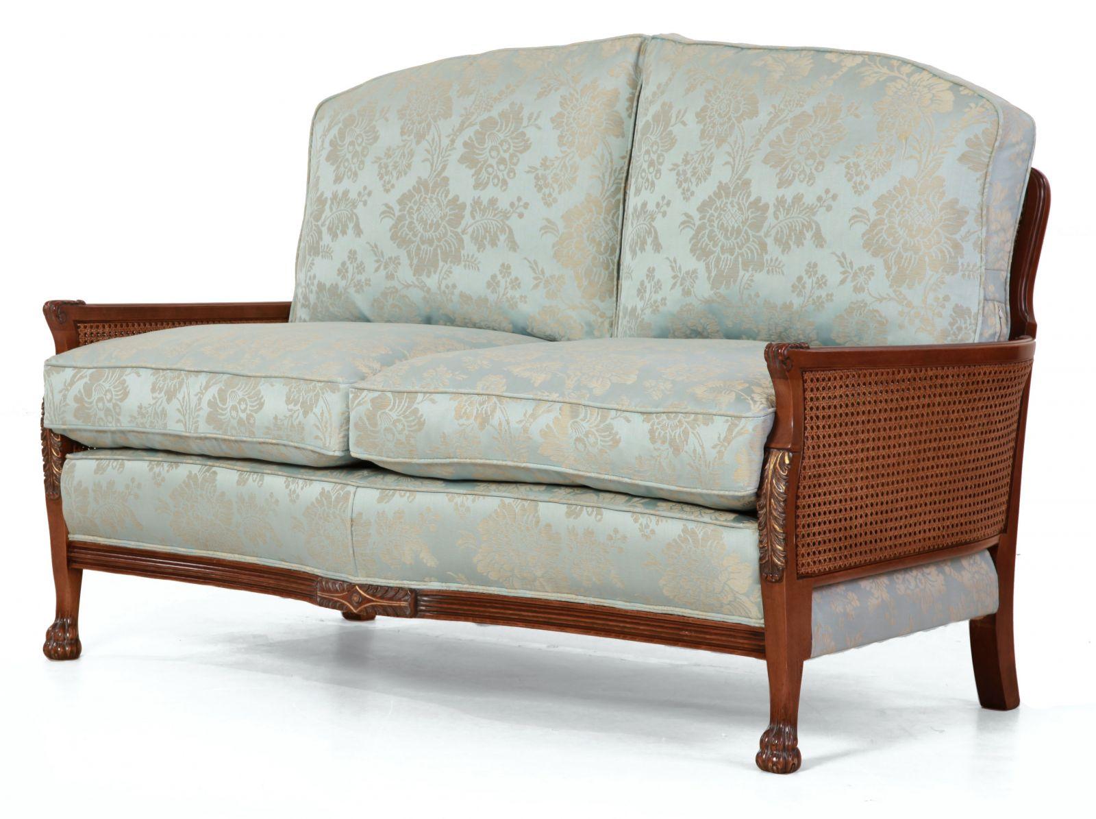 Italian frame Bergere - 2 seat sofa + Chair
