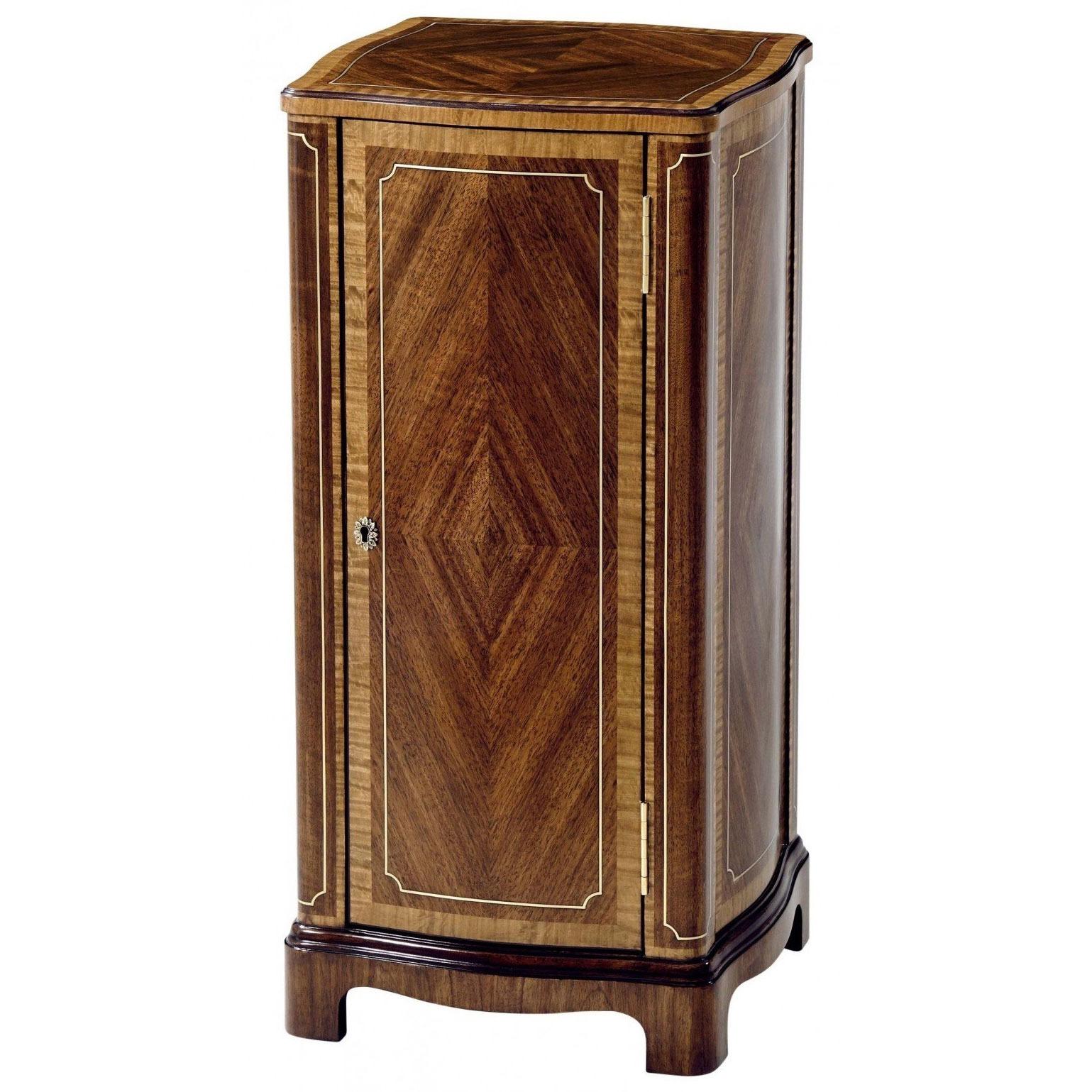 Torchere pedestal cabinet