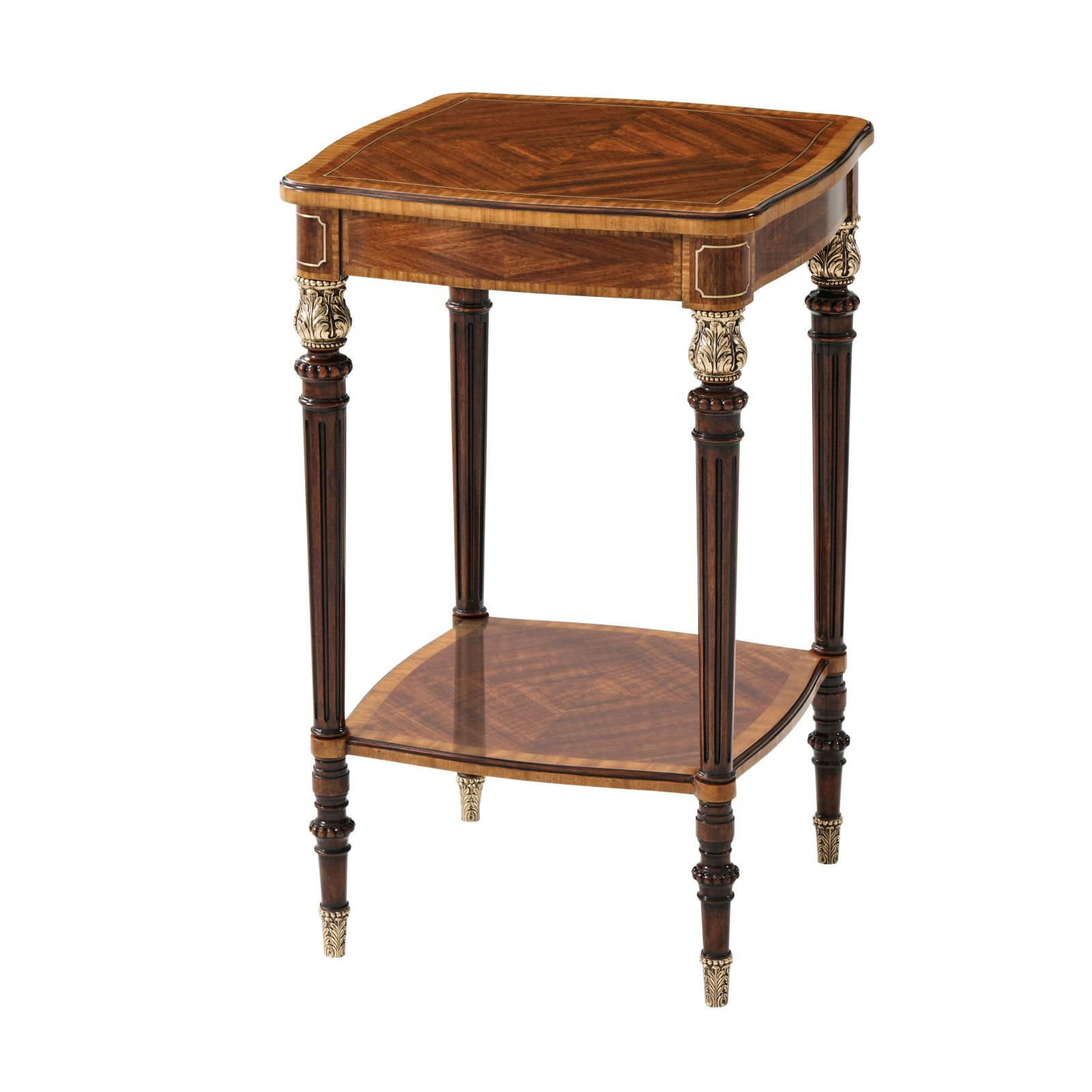 Mahogany and brass side table