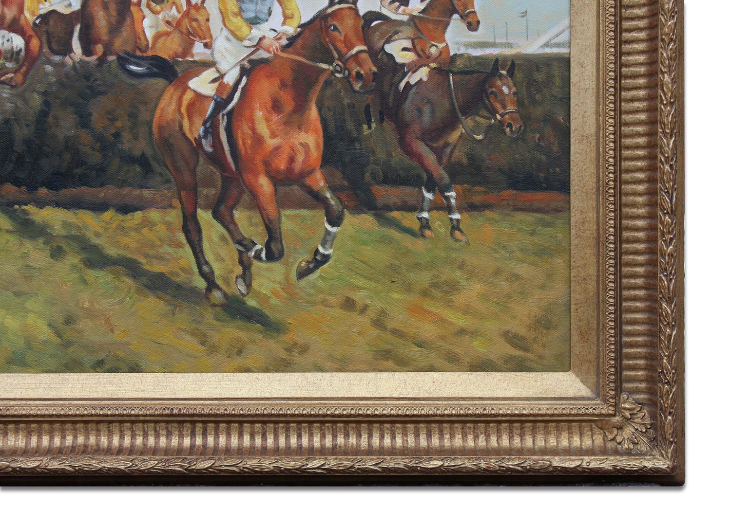 Valentine's Jump framed oil painting