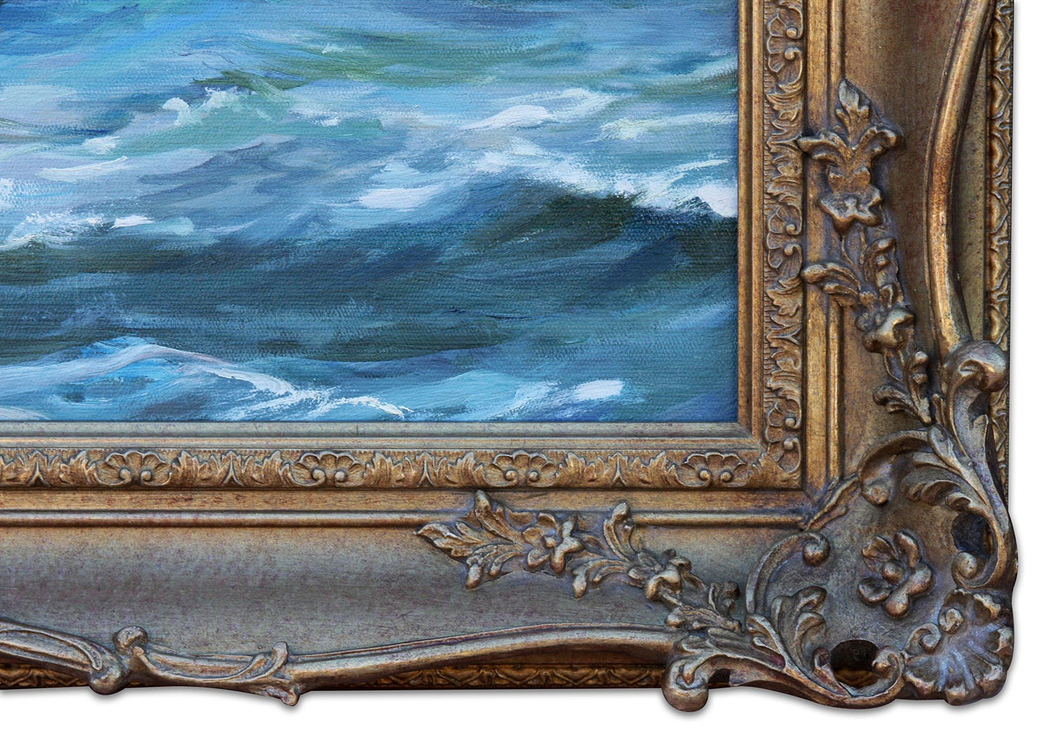 The Sapphire framed oil painting