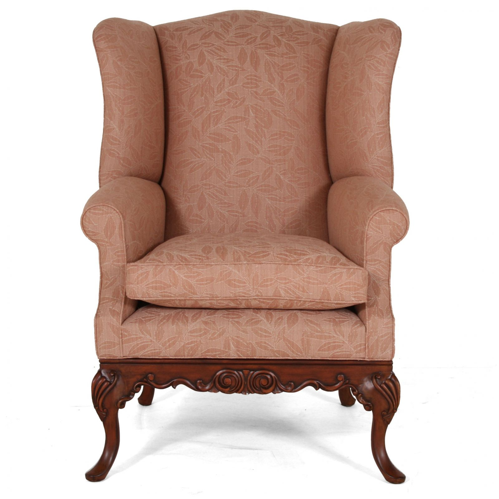 Sonning wing chair in Scottish Wool - Leaf Tan