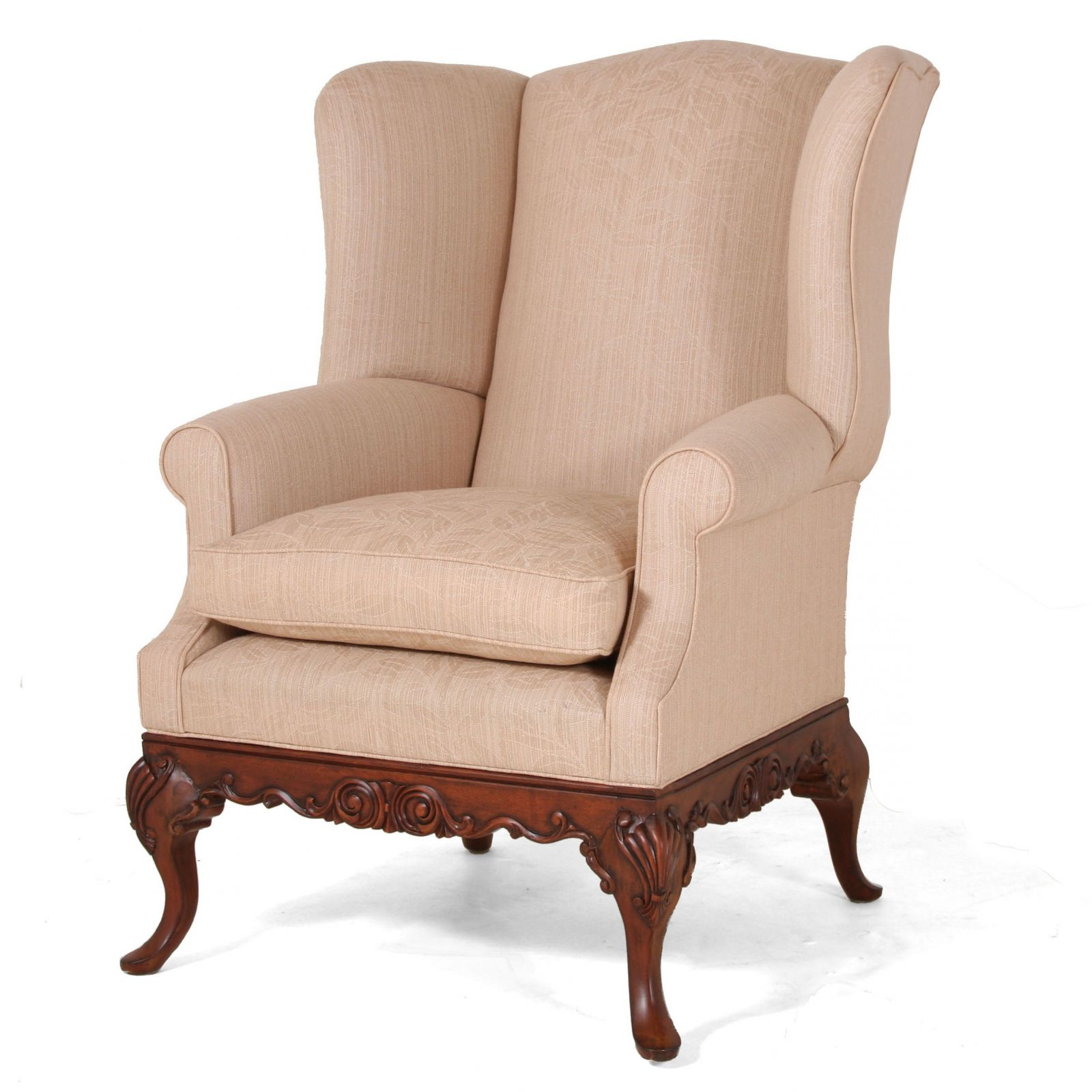 Sonning wing chair in Scottish Wool - Leaf Beige