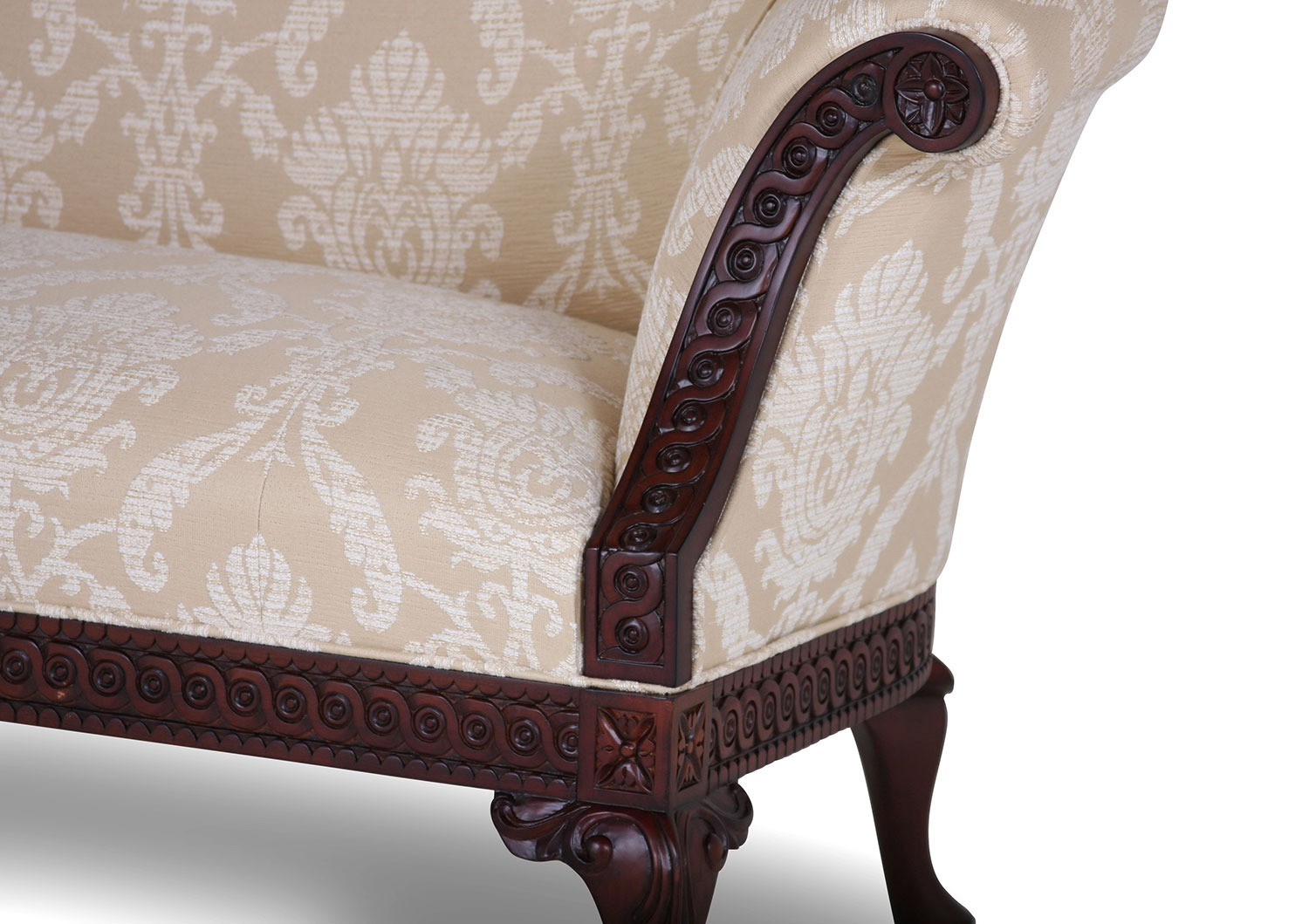 Pride Regency style suite in Cream chenille damask