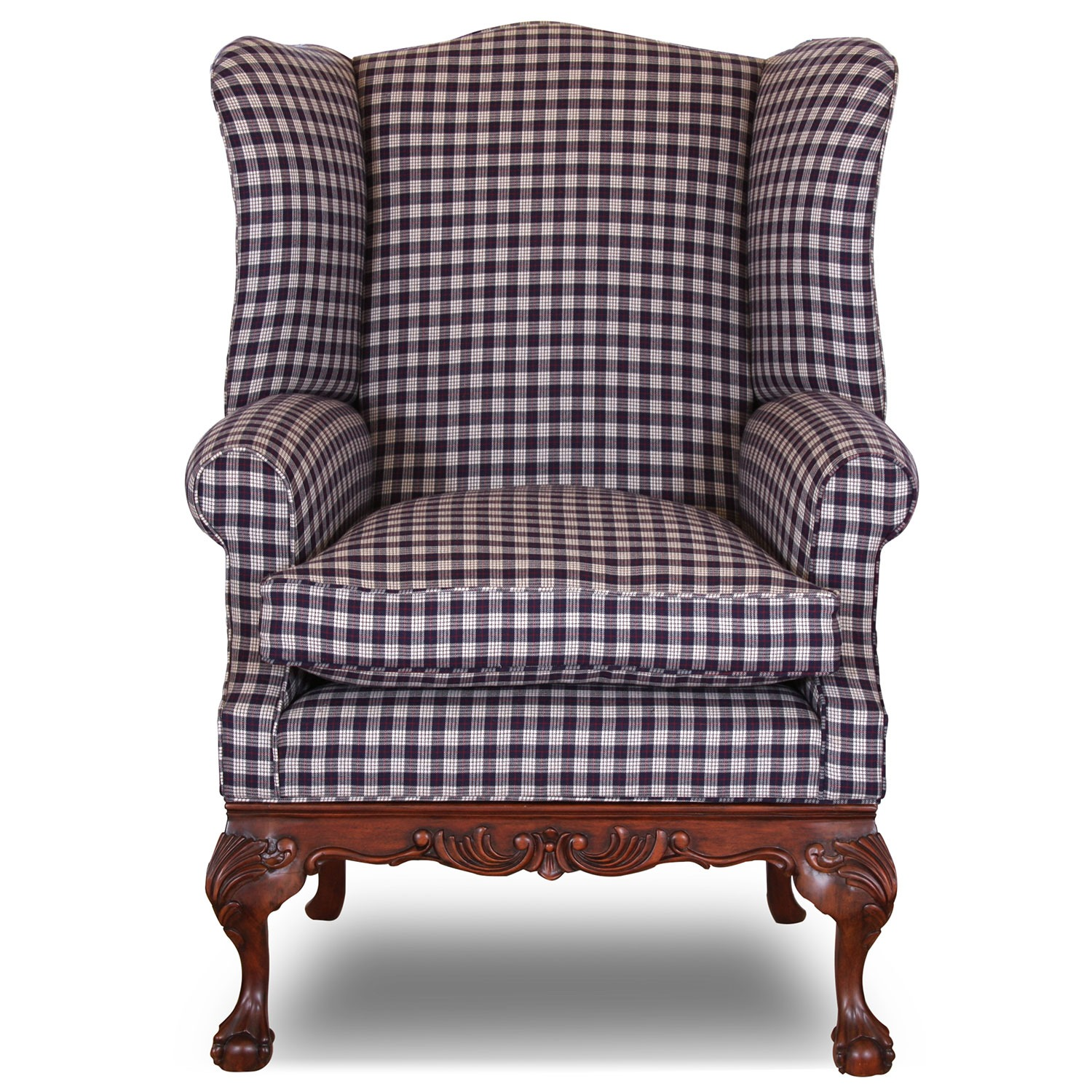Sonning wing chair in Viyella Scottish Wool
