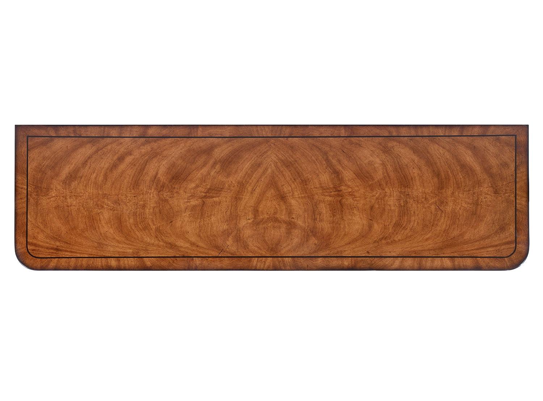 Thomas Hope style mahogany & ebonised open bookcase - 42in