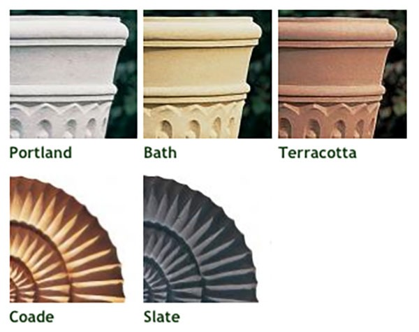 Heritage square stone planter (Medium) - Slate