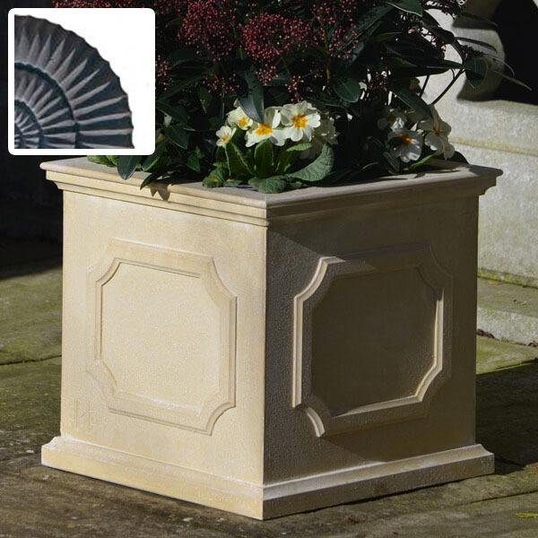 Heritage square stone planter (Small) - Slate