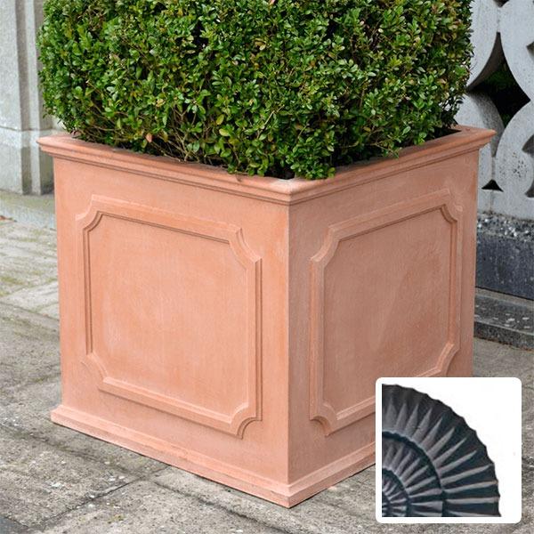 Heritage square stone planter (Large) - Slate