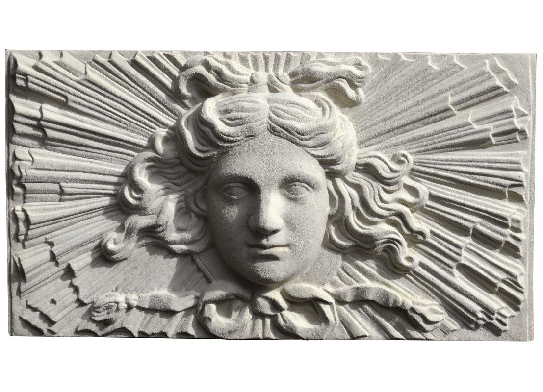 Soane Apollo Sunburst stone wall Plaque - Portland