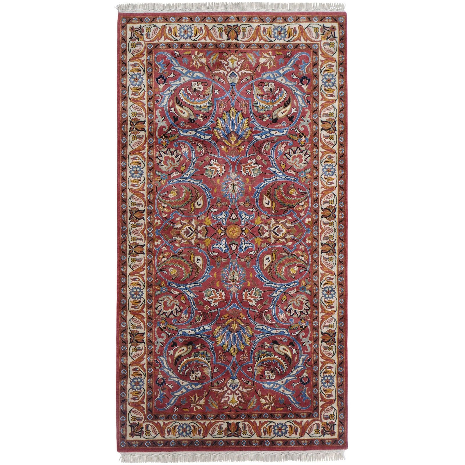 Saruq silk pile carpet
