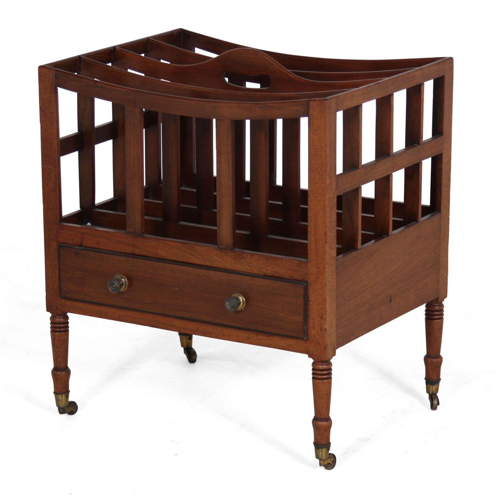 Regency style mahogany canterbury