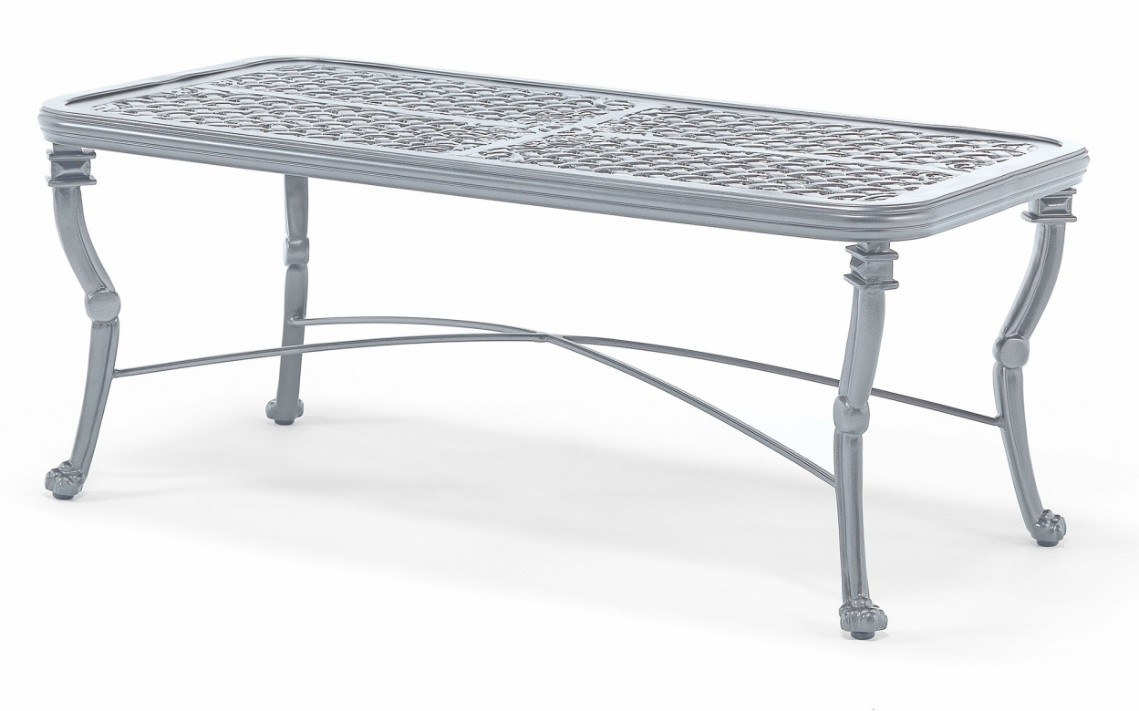 Luxor Large coffee table - Aluminium