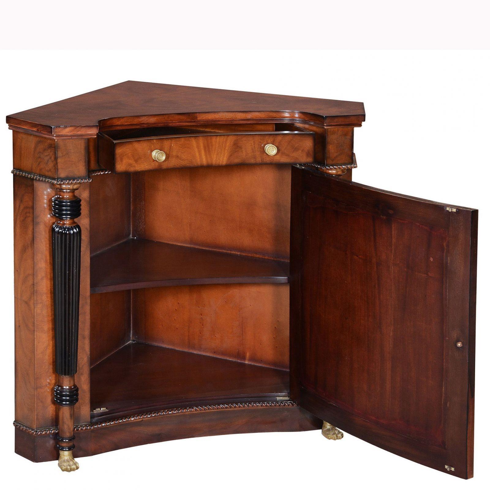Regency Corner Cupboard