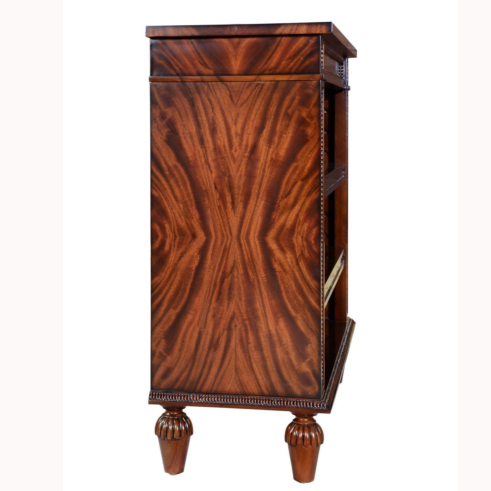 Regency Style Mahogany open Bookcase - 42in