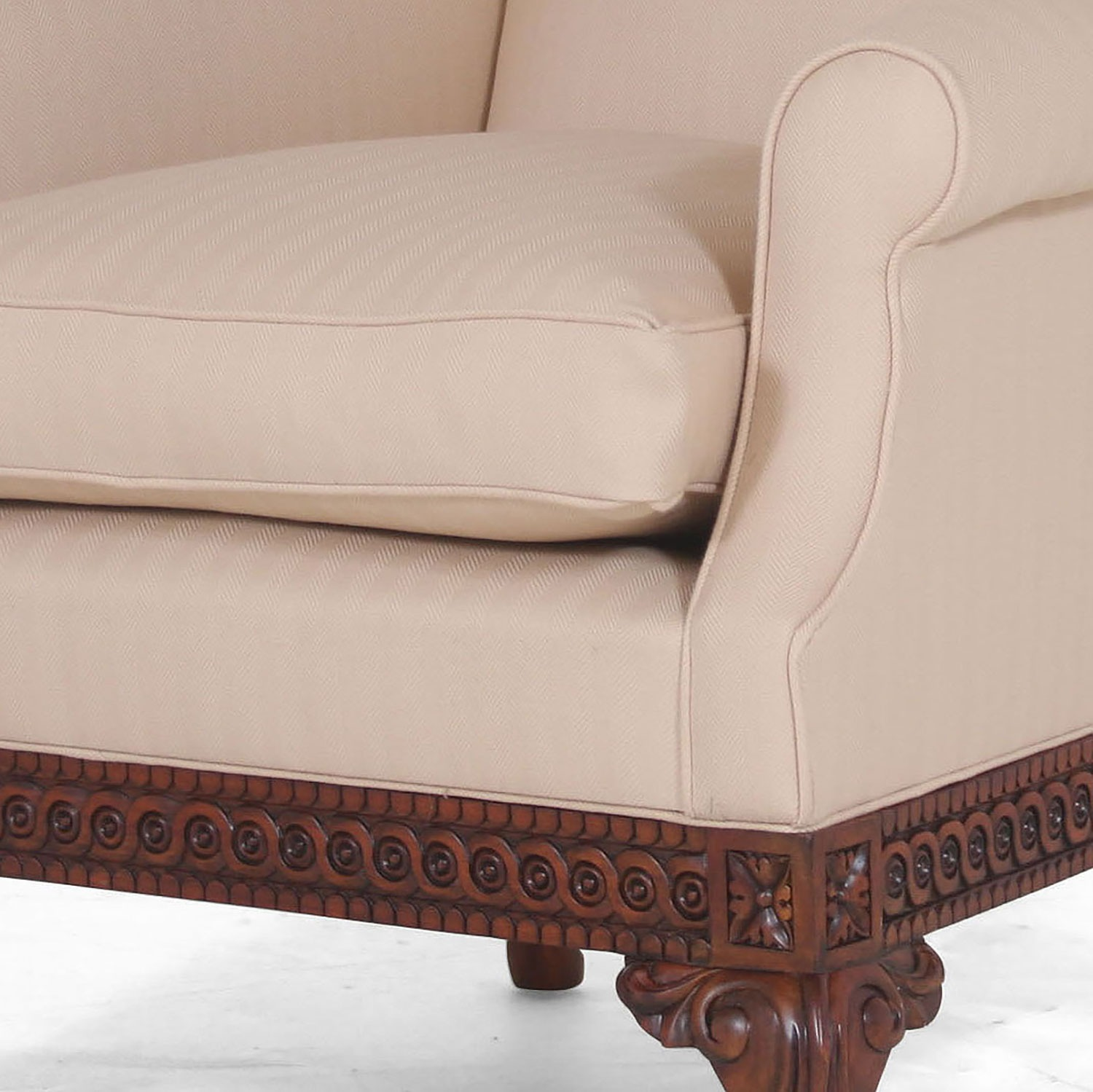 Pride Regency style suite in The Isle Mill wool - Almond