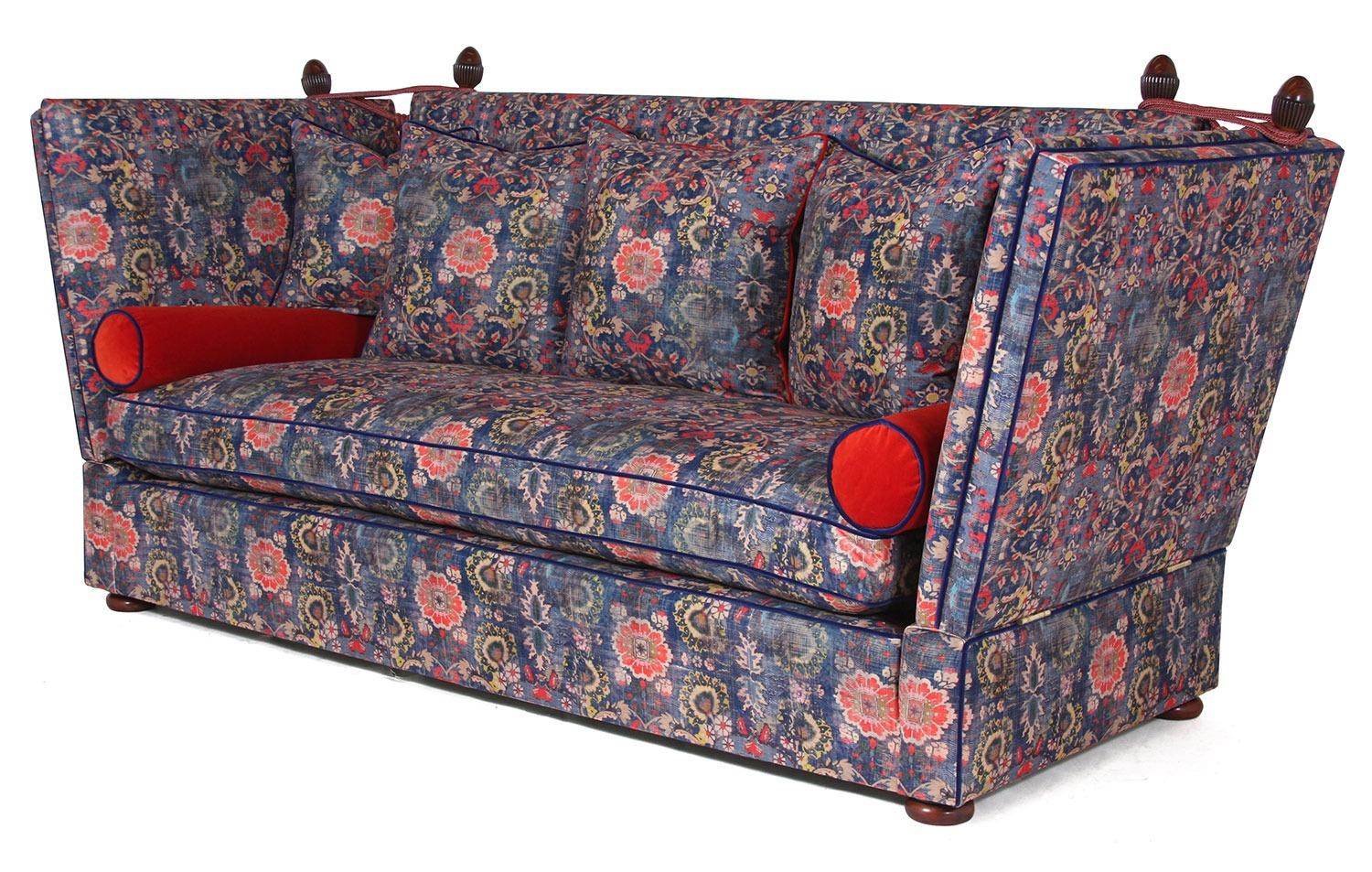 Singapore Knole 3 seat sofa in Omega Genie Blue