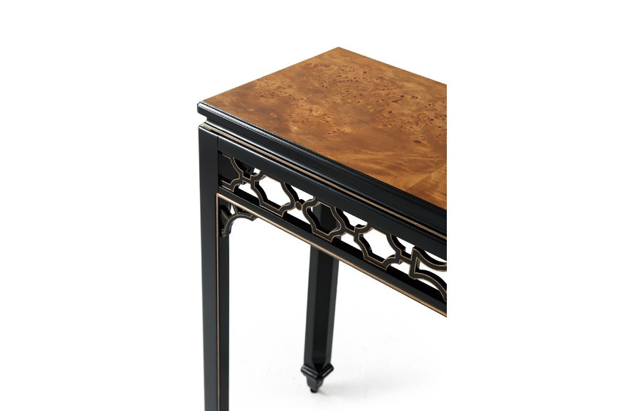 Gilded and ebonised Console Table