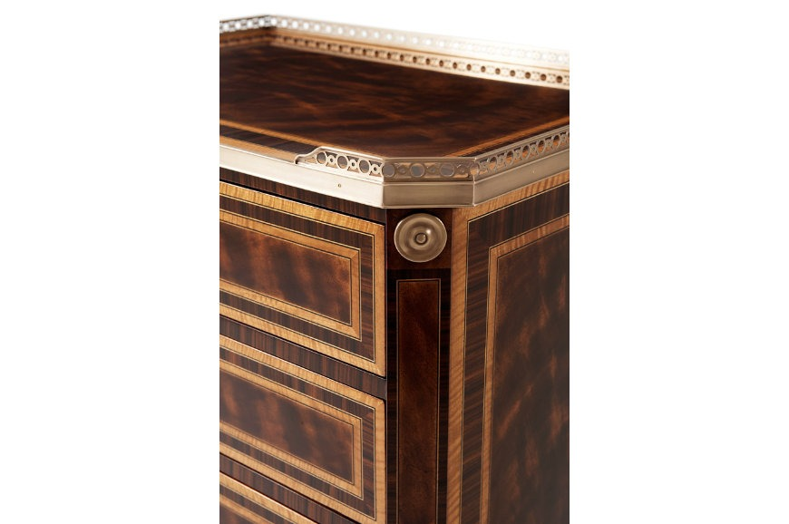 Mahogany and rosewood crossbanded nightstand