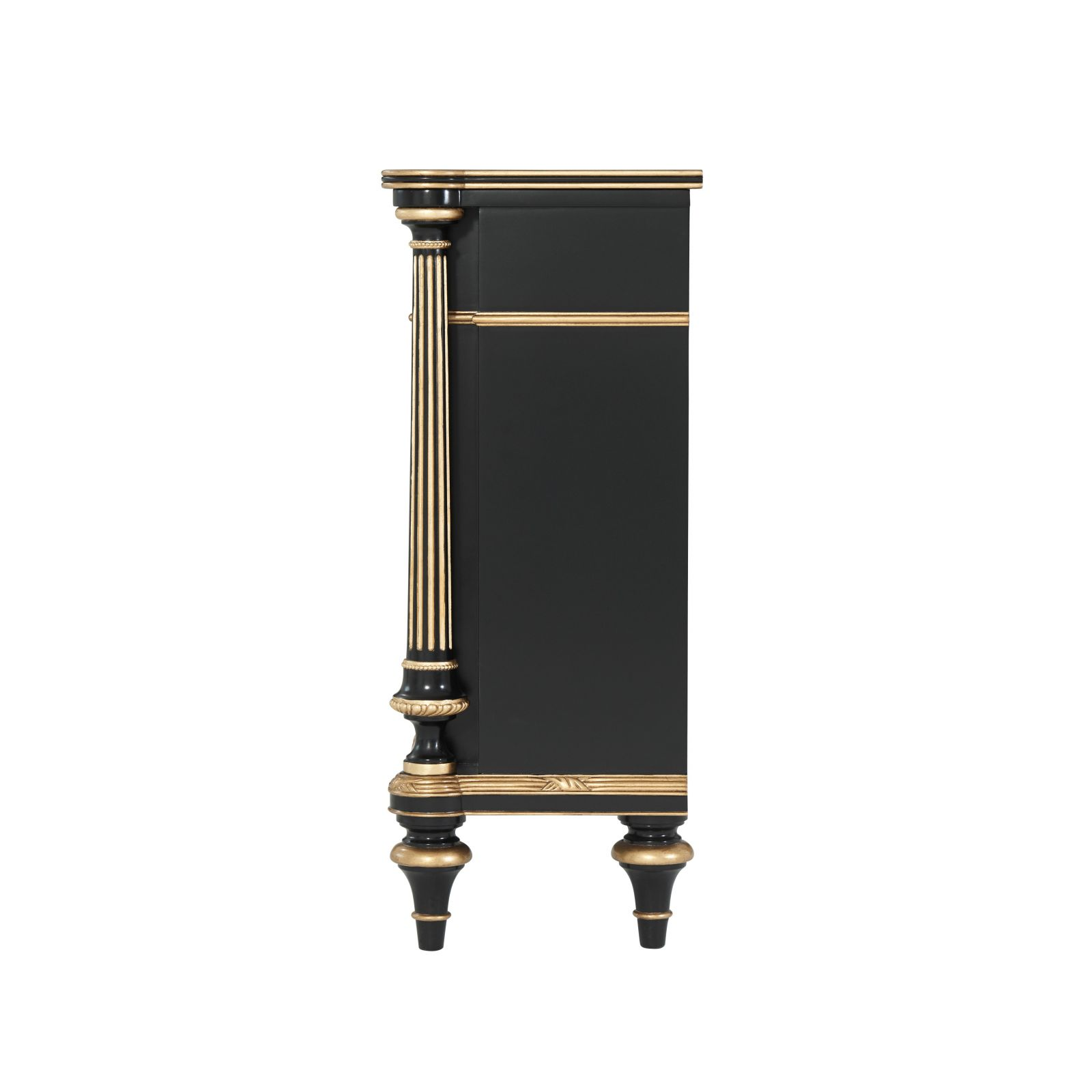 Ebonised Mahogany and Parcel Gilt Chinoiserie Cabinet
