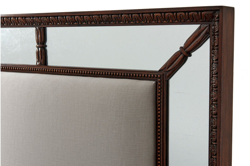 Mirrored and Upholstered Super King Bedstead
