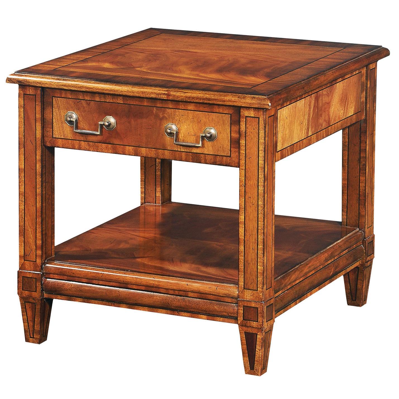Crotch mahogany side table