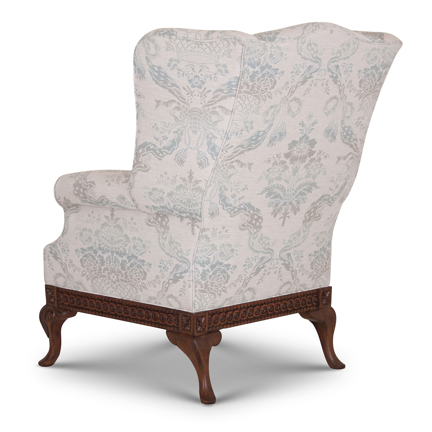 Pride Regency style wing chair in Moloko