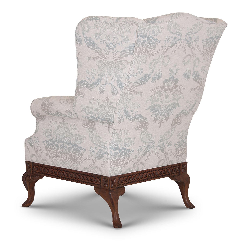 Pride Regency style wing chair in Moloko