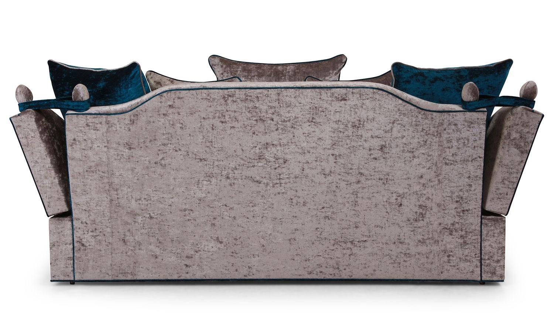Penelope Knole 3 seat sofa in Smoke velvet