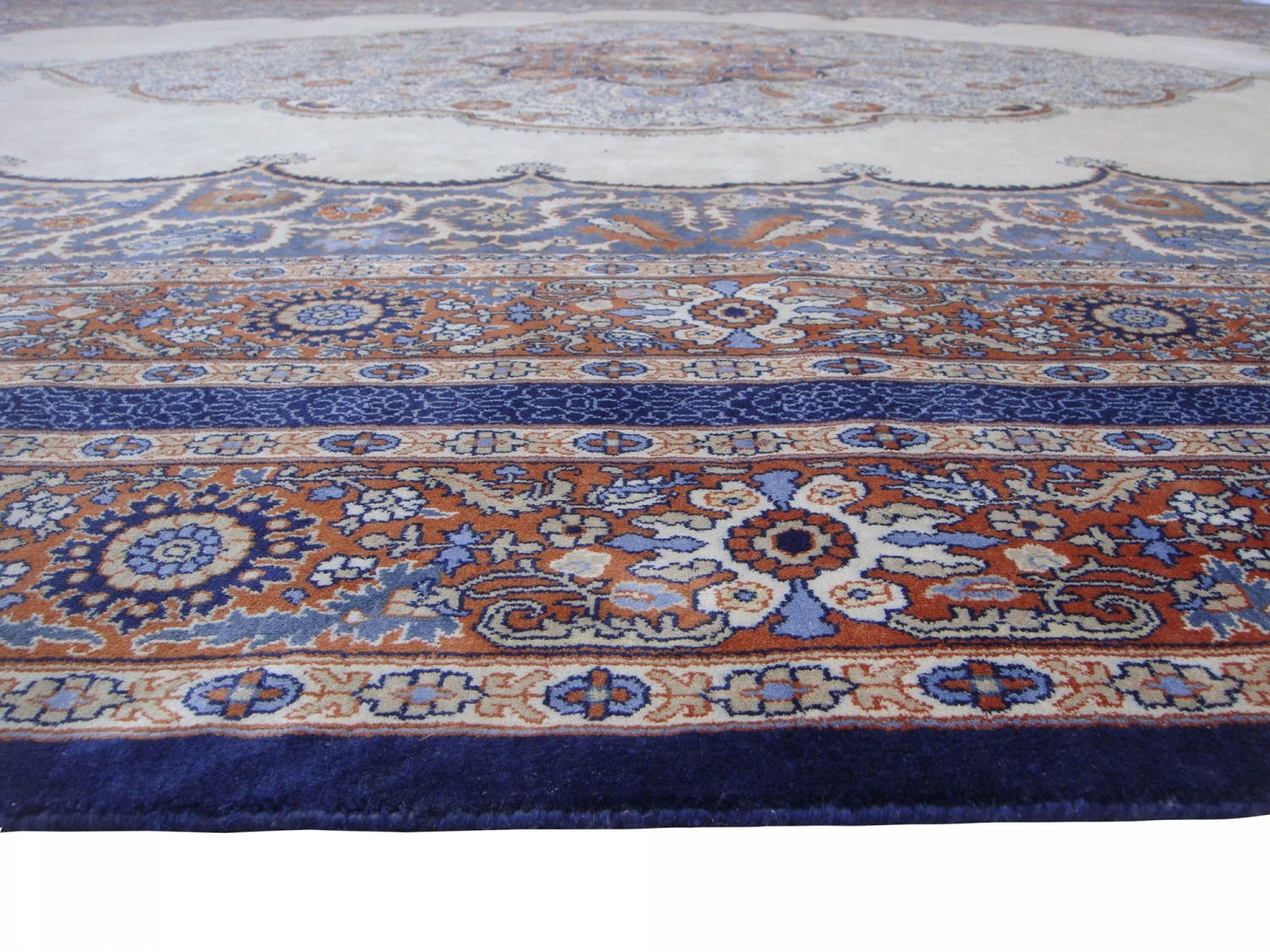 Tabriz Late 19thC design silk pile carpet
