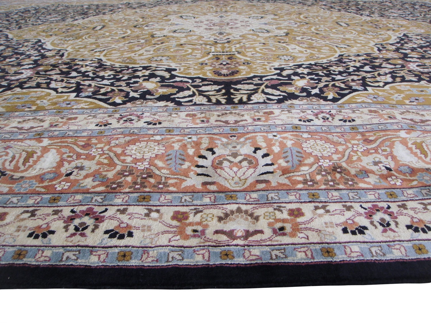 Tabriz 19thC design silk pile carpet
